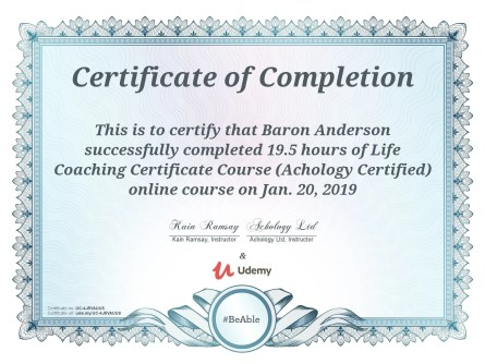 Baron Anderson Certified Life Coach