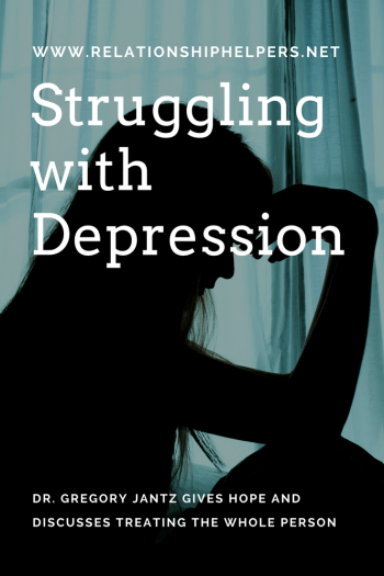 Depressed? There is hope! Learn from Relationship Helper's interview with Dr. Gregory Jantz as he discusses treating the WHOLE person with HOPE!