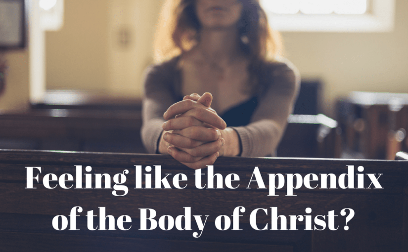 "Not sure how you fit in at church? How to Serve Your Church According to Your Gifts In ""What to Do When You Feel Like the Appendix of the Body of Christ"", Laura Ketchie, a Christian therapist, provides direction and encouragement for those seeking guidance in how they can become involved in their church."