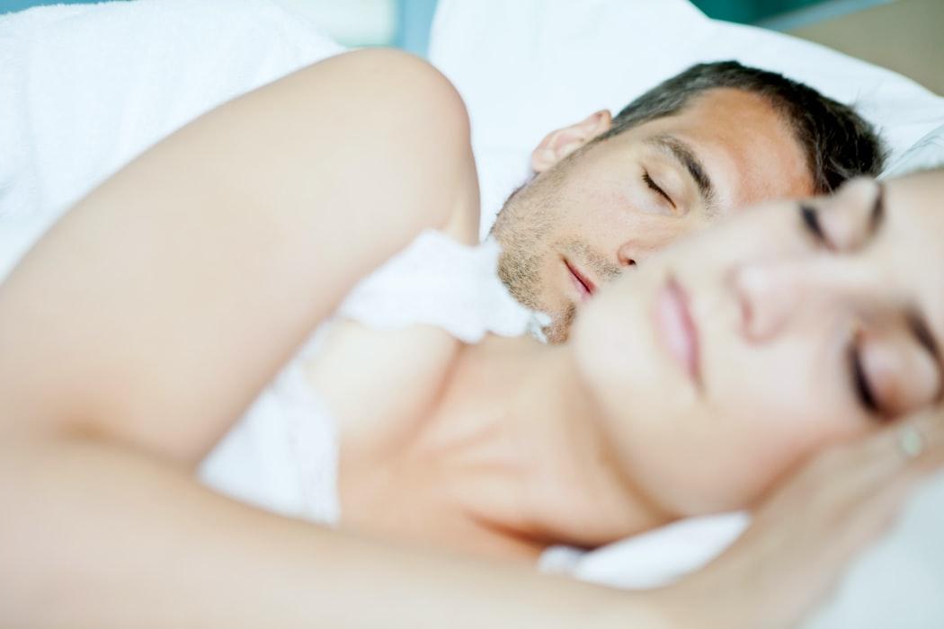 TWO CUTE COUPLE SLEEPING