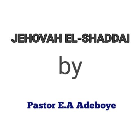 jehovah el_shaddai