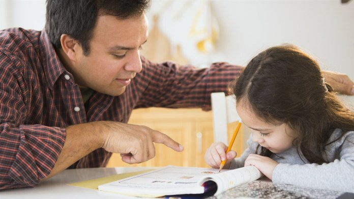 helping kids do assignment
