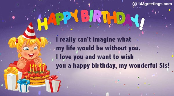 birthday message for sister image 1