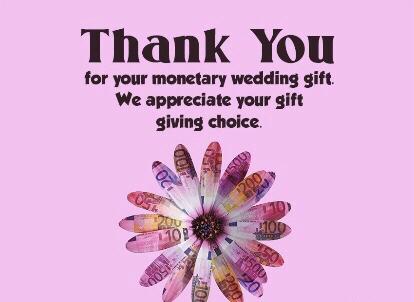 thanks for wedding gift 2