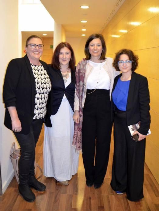 las directoras del documental con Ana Lorenzo y Patricia Cavada