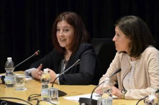 Vanessa Perondi, co-directora de las víctimas sin llanto junto con la Alcaldesa Patricia Cavada