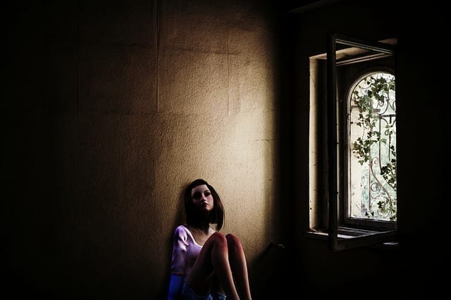 sad woman photo
