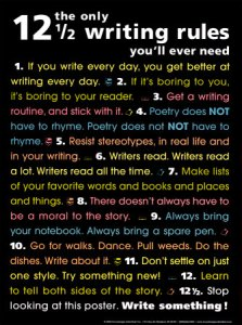 the only 12 1/2 writing rules you'll ever need, las doce reglas y media para la escritura que necesitas