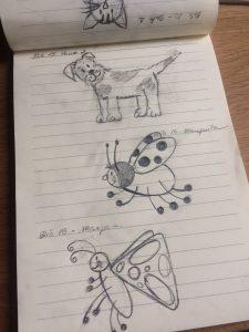 creativo, dibujo, práctica