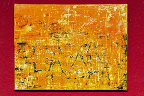 Gemälde auf Leinwand präsentiert von Sabine Flatau