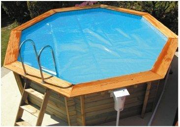 Premium wooden pool solar covers