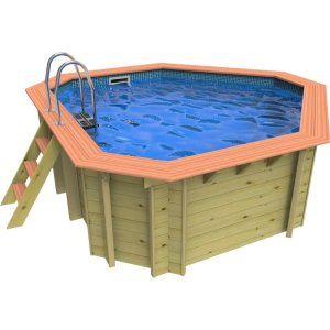 Plastica Richmond Corner Wooden Swimming Pool – 3.3m X 3.3m