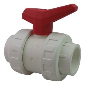 1.5in Double Union Ball Valve White ppf120