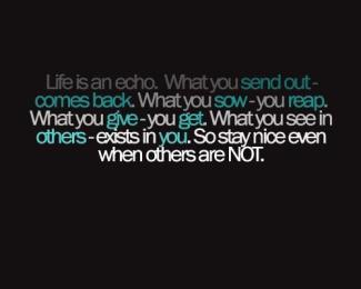 8 Relax and Succeed - Life is an echo