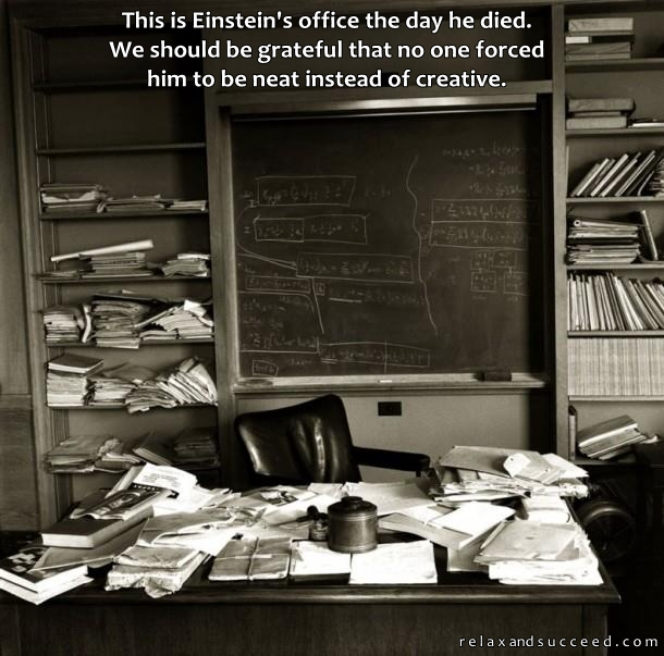 124 Relax and Succeed - Einstein's office the day he died