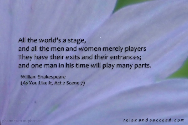 495 Relax and Succeed - All the world's a stage