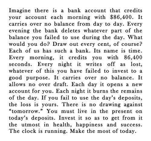 572 Relax and Succeed - Imagine there is a bank account