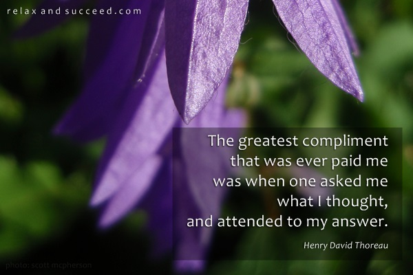 578 Relax and Succeed - The greatest compliment