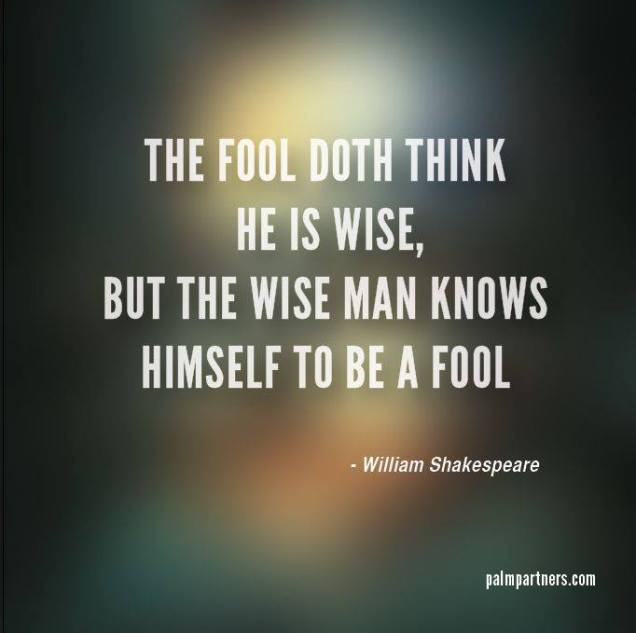 817 Relax and Succeed - The fool doth think