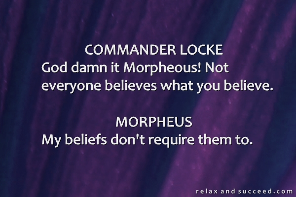1233 Relax and Succeed - Commander Locke to Morpheus