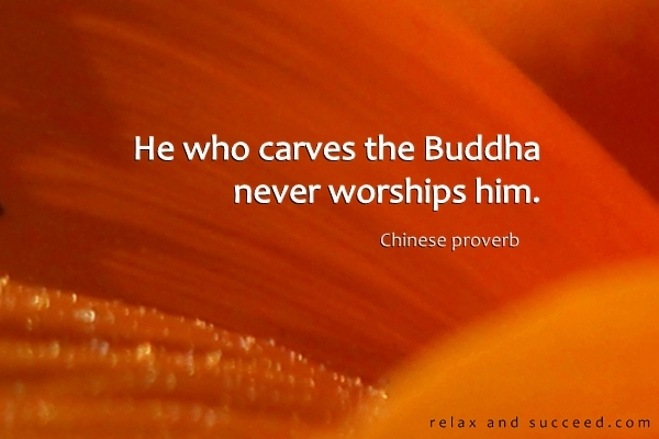 1236 Relax and Succeed - He who carves the buddha