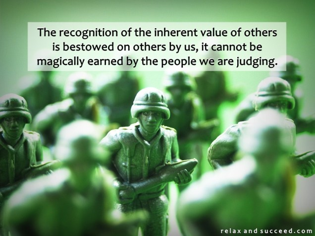 1331 Relax and Succeed - The recognition of the inherent value of others