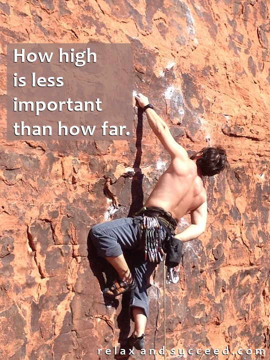 1334 Relax and Succeed - How high is less important