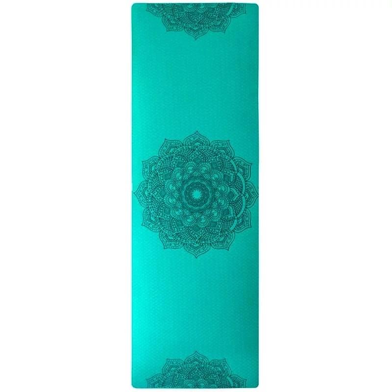 Tapis de yoga écologique bleu-vert