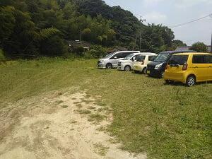 大きな駐車場の写真