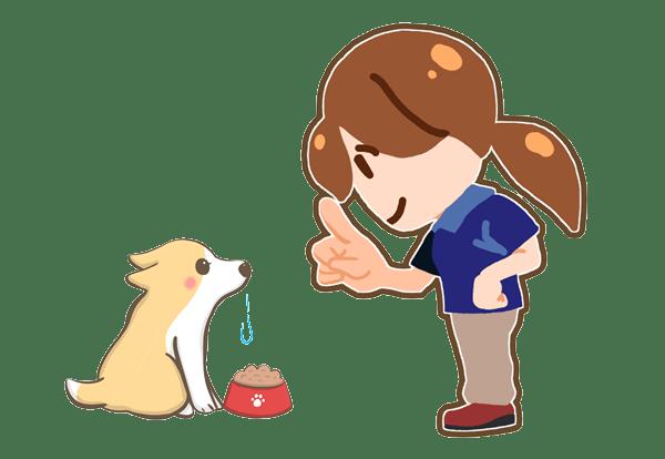 集中力が続く犬のイラスト