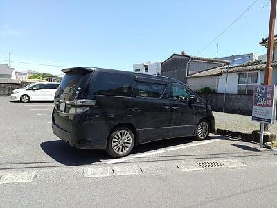 わび助加治木店のお店前の駐車場の写真