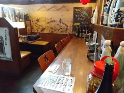 海鮮太郎のカウンター席の写真