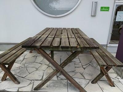 パティスリークレールのイートインスペースの写真