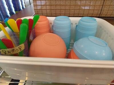 霧乃の子供用食器の写真