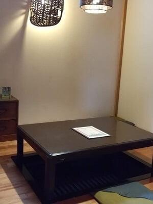 銀の雫の左の個室の写真