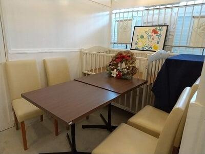 タヴェルナマンジャーレの奥の個室の写真