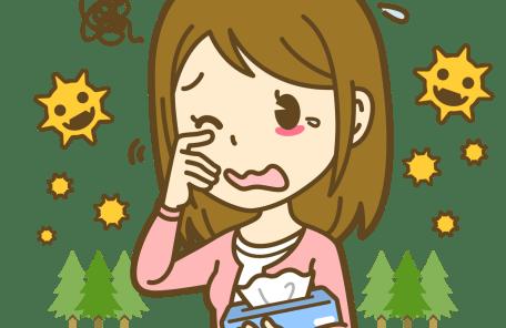 春のアレルギーのイラスト