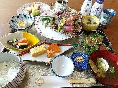 膳や和花のお造り膳の写真