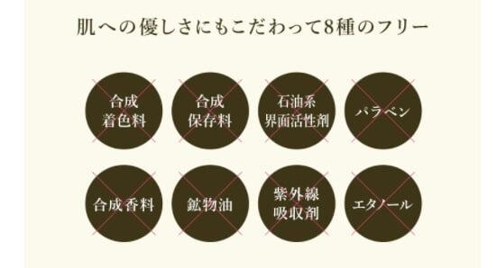 NBSワンドロップジェルの肌への優しさにもこだわって8種のフリーの画像