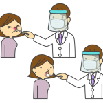 PCR検査、抗原検査のイラスト