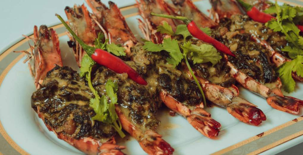 Tiger Prawns with Laing