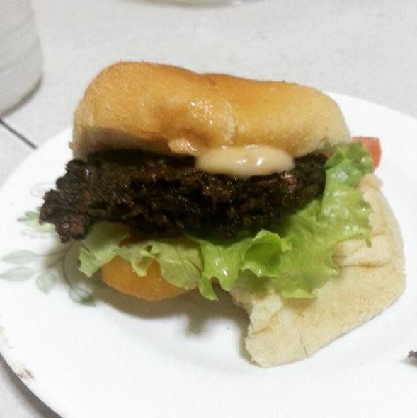 Healthy Veggie Banana Heart Burger -Puso ng Saging Burger