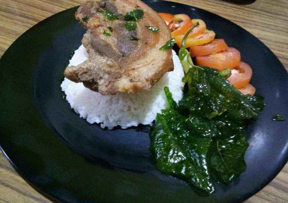 Sinigang Rice with Crispy Liempo
