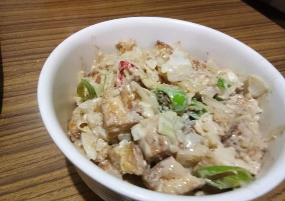 Homemade Tofu Sisig Ala Max