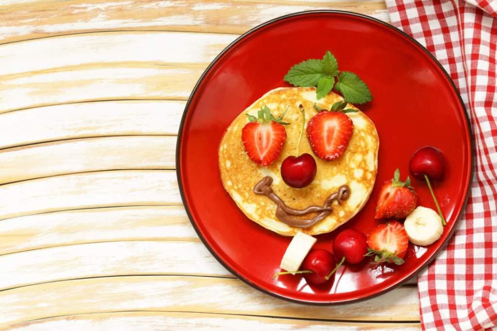 Ms Strawberry Pancake - breakfast pancakes with berries (strawberry, cherry, banana)