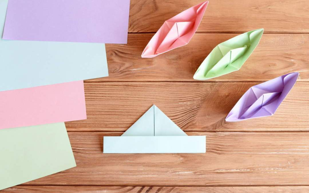 Homeschool Art Project: How to make a paper boat