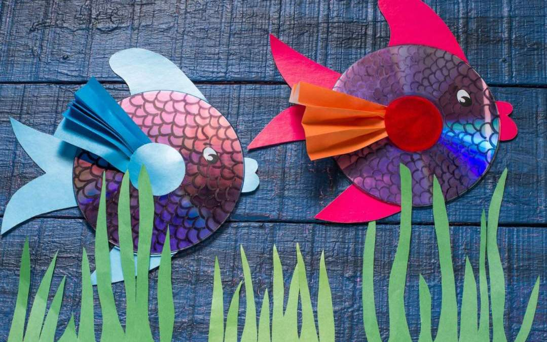 Homeschool Art Project: CD Fish Art