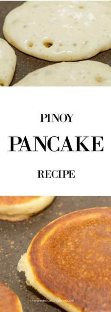 Pinoy Pancake Recipe - Relax lang Mom Filipino Food Blog and Recipes