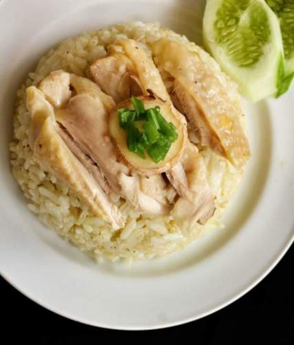 Easy Rice Cooker Hainanese Chicken Rice