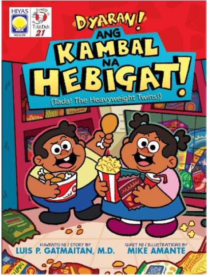 Filipino Story books for children - Ang Kambal na Hebigat by Luis P Gatmaitan